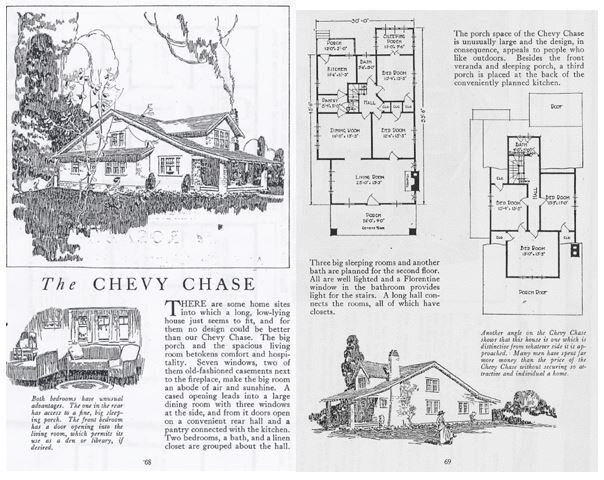 The Lewis Manufacturing Co.'s Chevy Chase Kit House Blueprints