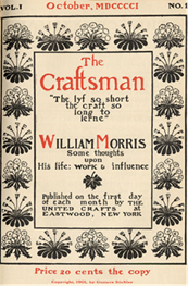 "Book cover, ""The Craftsman"" about William Morris"