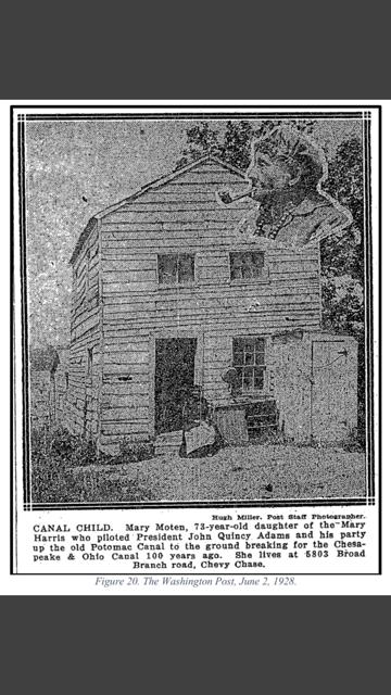 Washington Post 1928 photo of Mary Moten