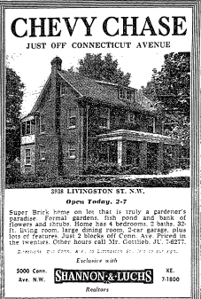 WaPo ad for 3938 Livingston St. NW