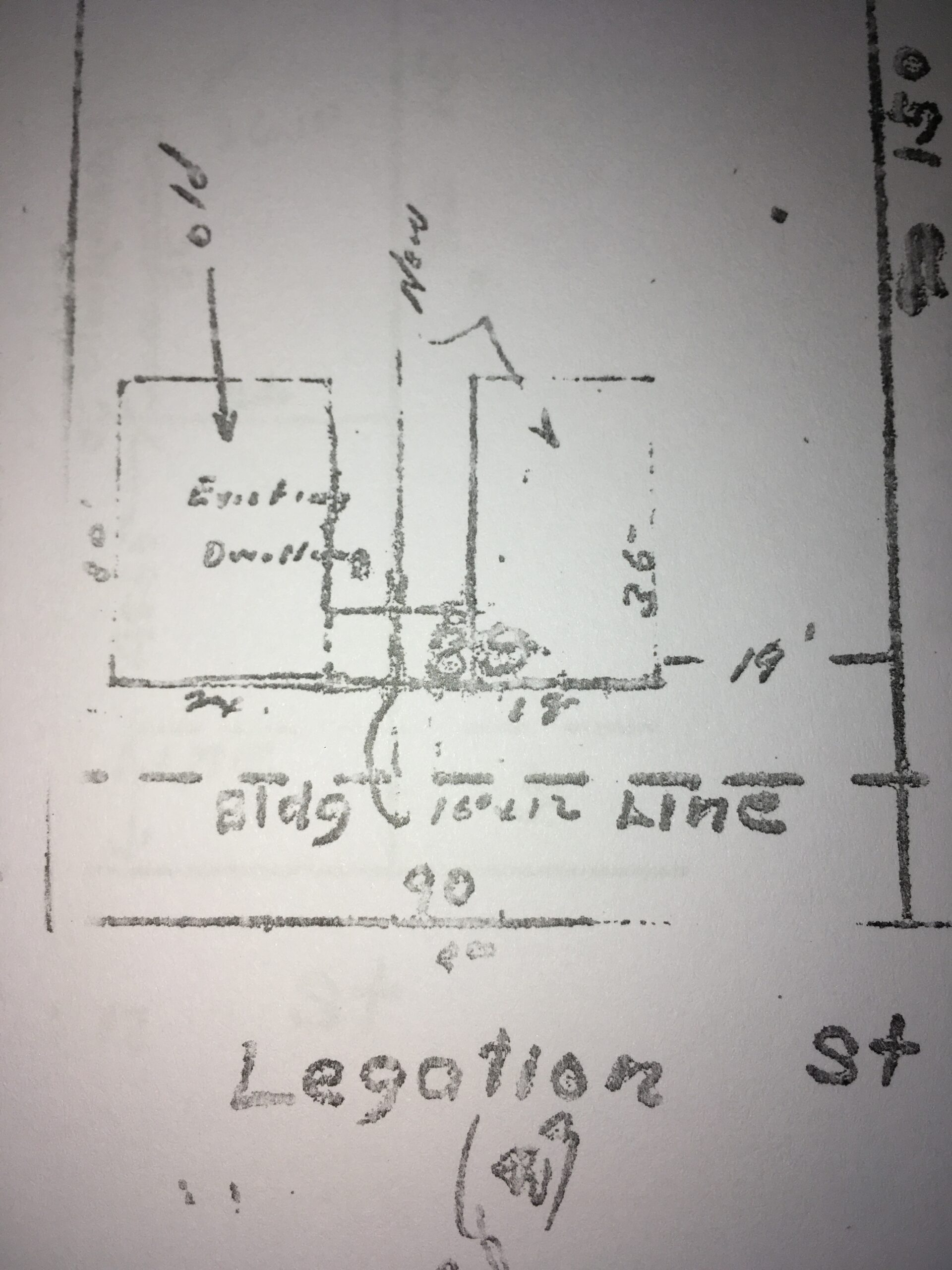 Building permit for 3823 Legation St. NW
