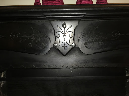 5605 Chevy Chase Parkway Black Fireplace detail