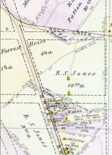 Jones Farm in 1903 Baist Map