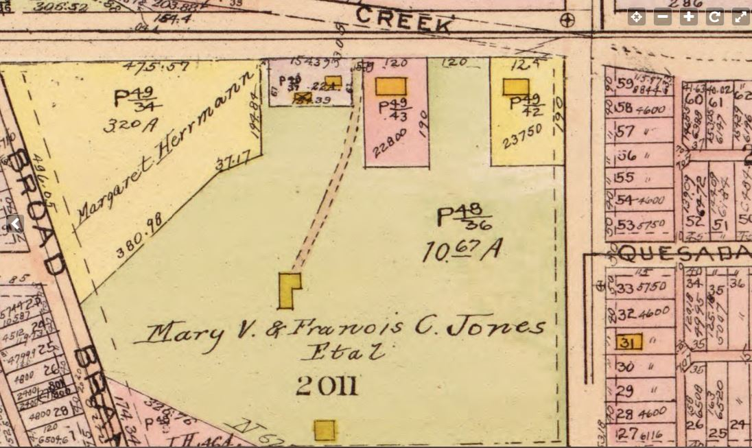 Jones Farm in 1919-1921 Baist Map