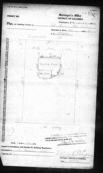 Jones Farm 1924 Repair Permit diagram